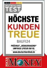 Baufi24 - Siegel Höchste Kundentreue Focus